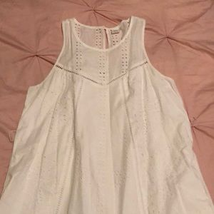 White ilet dress